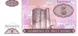 AZERBAIJAN P.15  5   Manat  1993   Unc - Azerbaïdjan