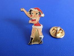 Pin's BD Betty Boop En Père Mère Noël - Dessin Animé (SB47) - Comics