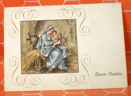 Buon Natale Natività  Biglietto Auguri Mignonet  Usato - Xmas