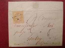 PC 3118 Saint Jean D'Angely Pour Loulay 1858 - Marcophilie (Lettres)