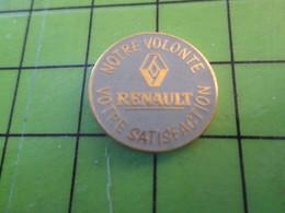 1318c Pin's Pins / Belle Qualité Et TB état !!!! : THEME AUTOMOBILES / RENAULT NOTRE VOLONTE VOTRE SATISFACTION I Can Ge - Renault