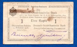 DOA  -   1 Rupie  --  1 /2/1916  -- état  TTB - [12] Colonies & Foreign Banks