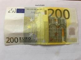 Italy Banknote 200 Euro 2002 - [ 2] 1946-… : Republiek