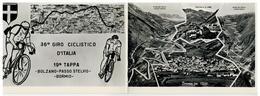 Cartolina Formato Doppio - 36° Giro Ciclistico D'Italia - 19° Tappa - Bolzano - Passo Stelvio - Bormio - Ciclismo - Sondrio