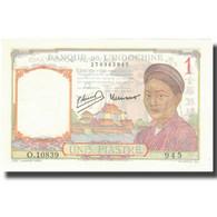 Billet, FRENCH INDO-CHINA, 1 Piastre, Undated (1945), KM:54d, SPL+ - Indocina