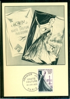 CM-Carte Maximum Card #1953-France #  Art # Haute-Couture # Mode Fashion # Mannequin # Paris (Cote 13.00€) - 1950-59
