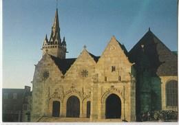 Plestin Les Grèves L'Eglise Saint Efflam (XVIè Siècle) Façade Sud : Le Triple Portail Et Le Porche De 1575 - Plestin-les-Greves