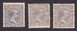 Cuba, Scott #P13-P15, Mint Hinged, King Alfonso XIII, Issued 1892 - Cuba (1874-1898)