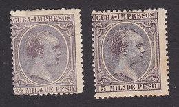 Cuba, Scott #P13, P16, Mint Hinged, King Alfonso XIII, Issued 1892 - Cuba (1874-1898)