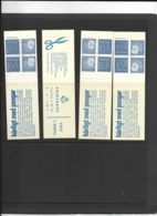 HA 12F 1964 MNH Slot Machin Booklets, Set Of 4 - Booklets