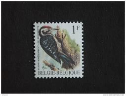Belgie Belgique Belgium 1990 Vogel Oiseau Buzin Bonte Specht Pic Epeichette Witte Gom 2349 Yv 2349 MNH ** - 1985-.. Birds (Buzin)