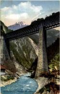 Gotthardbahn - Viaduct Bei Amsteg Mit Eisenbahn - UR Uri