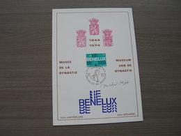 """BELG.1974 1723 """"Benelux """" Mooie Grote Eerste Dag Kaart Met Handtekening Ontwerper Zegel """"Olyf Michel !! - FDC"""
