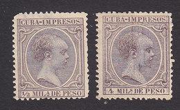 Cuba, Scott #P13, P17, Mint No Gum, King Alfonso XIII, Issued 1892 - Cuba (1874-1898)
