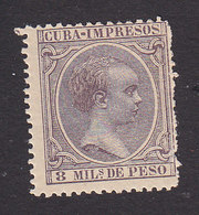 Cuba, Scott #P18, Mint Hinged, King Alfonso XIII, Issued 1892 - Cuba (1874-1898)
