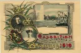 CTN54A- BELGIQUE CARTE POSTALE DE L'EXPOSITION UNIVERSELLE BRUXELLES 1910 - Stamped Stationery