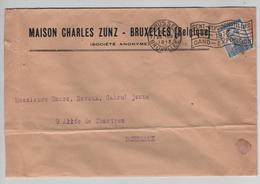 AP2121/ TP 120 Pellens Perforé C Z T T D S/L.Entête Charles Zunz BXL C BXL 1913 V.Bodeaux - Perforés