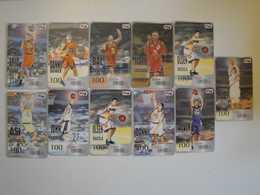 11 Chip Phonecards From Philippines - Basketball - Philippines