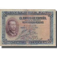 Billet, Espagne, 25 Pesetas, 1926, 1926-10-12, KM:71a, B+ - 1-2-5-25 Pesetas