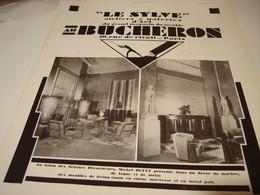ANCIENNE PUBLICITE MAGASIN DE MEUBLE BUCHERON GALERIE D ART  1930 - Advertising