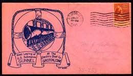 """US Navy, USS""""GUNNEL"""" (SS-253), 1941,KEEL LAYING, Look Scan, RARE !! 14.7-25 - Sous-marins"""