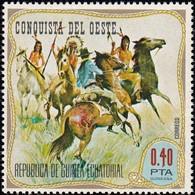 GUINEA EQUATORIAL - SW619 Wild West / Mint NH Stamp - Indiens D'Amérique