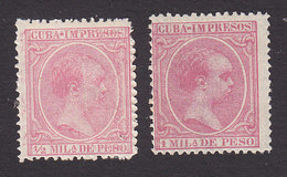Cuba, Scott #P19-P20, Mint Hinged, King Alfonso XIII, Issued 1894 - Cuba (1874-1898)
