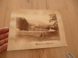 Photo 17.5 X 12 01/10/1891 Sur Carton La Blaquière Vue Prise Au Dessus Du Cimetière Hérault ? Lozère? - Lieux