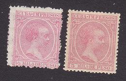 Cuba, Scott #P19, P22, Mint Hinged, King Alfonso XIII, Issued 1894 - Cuba (1874-1898)