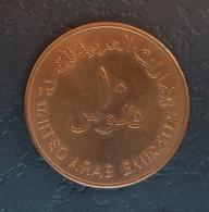 HX - UAE 1989 10 Fils AH1409 Coin A-UNC - Dhow - Emirats Arabes Unis