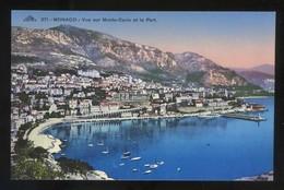 *Vue Sur Monte-Carlo Et Le Port* Ed. C.A.P. Nº 271. Nueva. - Monte-Carlo