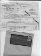 23 Creuse 69 Lyon Automobiles ROCHET SCHNEIDER Facture à Camille  MOREL Mecanicien A MAINSAT15 04 1936 + Enveloppe - Automobile