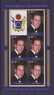 2402 Penrhyn Northern Isl  Royal Engagement  Prince William & Kate Middelton 16 Th November 2010  2 X 5 Stamp's Sheet. - Royalties, Royals