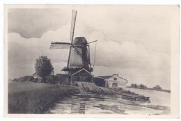 Windmühle Bei Moniendam Bei Waterland  - Zeichnung    - AK-12.276 - Pays-Bas