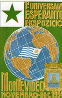 (79) CPSM  Montevideo 1954  1er Universala Esperanto Ekspozicio - Uruguay