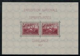 Luxembourg // Bloc Feuillet Neuf ** 1937 Exposition Nationale Dudelange - Blocs & Feuillets