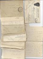 42 CARTES LETTRES CORRESPONDANCE MILITAIRE SUIVIE -un Militaire Ambulance 216 Voir Scan - Postmark Collection (Covers)