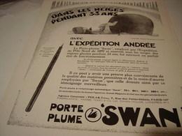ANCIENNE PUBLICITE EXPEDITION ANDREE ET  SWAN 1931 - Autres