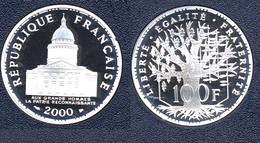 RARE FDC : 100 Francs PANTHEON Argent De 2000 Neuve Du Coffret BE - France