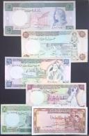 HX - Syria 1991-92 Set - 7 Diff Bankotes All UNC : 1 (1982) / 5 / 10 / 25 / 50 / 100 (1990) Livres UNC - Syria