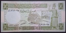 HX - Syria 1991 5 Livres UNC - Syrie