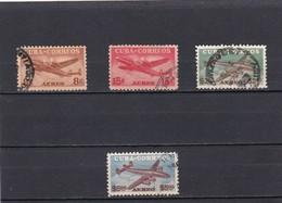 Cuba Nº A74 Al A77 Usado - Luftpost