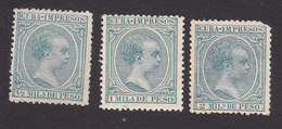 Cuba, Scott #P25-P27, Mint Hinged, King Alfonso XIII, Issued 1896 - Cuba (1874-1898)