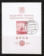 CZECHOSLOVAKIA  Scott # B 159 VF USED Souvenir Sheet SS-351 - Blocks & Sheetlets