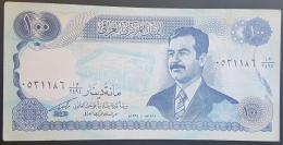 HX - Iraq 1994 Saddam Banknote 100 Dinars A-UNC P84 - Series MA/4294 - Iraq