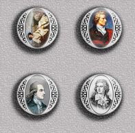 Writer Wolfgang Von Goethe ART BADGE BUTTON PIN SET 2 (1inch/25mm Diameter) 35 DIFF - Celebrities