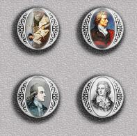 Writer Wolfgang Von Goethe ART BADGE BUTTON PIN SET 2 (1inch/25mm Diameter) 35 DIFF - Berühmte Personen