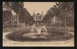 Monte-Carlo. *Le Casino Et Les Jardins* Ed. LL. Nº 45. Nueva. - Monte-Carlo