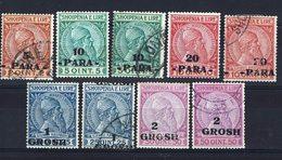 ALBANIE - 1914 - N° 38 à 41 A - Neufs Et Oblitérés - B/TB - - Albanien