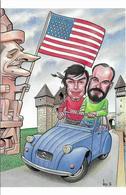 Illustrateur Bernard Veyri Caricature Jean Michel Riviere Et Bernard Veyri - Veyri, Bernard